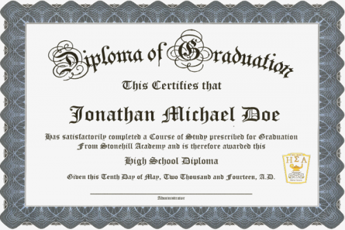 esa membership certificate diploma